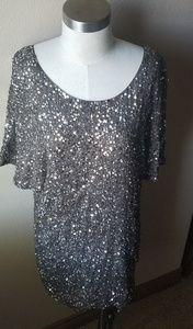 Sequin T shirt - holiday dress